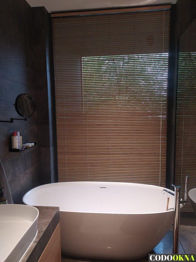 Żaluzje bambusowe w łazience