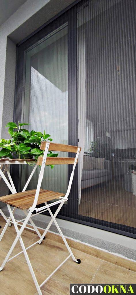 Moskitiera plisowana balkon